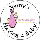 "108 Baby Shower  ""Our Daughter""  Hershey's Chocolate Personalized Kiss Labels  Party Favors #07"