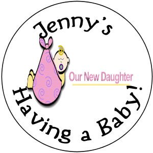 """108 Baby Shower  """"Our Daughter""""  Hershey's Chocolate Personalized Kiss Labels  Party Favors #07"""
