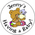108 Baby Shower Teddy Bear Hershey's Chocolate Personalized Kiss Labels Party Favors #18