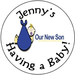 "108 Baby Shower ""Our New Son"" Hershey's Chocolate Personalized Kiss Labels Party Favors #22"