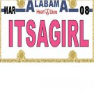30 ALABAMA License Plate GIRL Baby Shower Candy Bar Wrappers Hershey's Nugget Labels Party Favors
