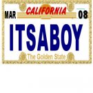30 CALIFORNIA License Plate BOY Baby Shower Candy Bar Wrappers Hershey's Nugget Labels Party Favors
