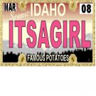 30 IDAHO License Plate GIRL Baby Shower Candy Bar Wrappers Hershey's Nugget Labels Party Favors