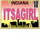 30 INDIANA License Plate GIRL Baby Shower Candy Bar Wrappers Hershey's Nugget Labels Party Favors
