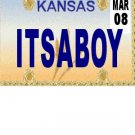 30 KANSAS License Plate BOY Baby Shower Candy Bar Wrappers Hershey's Nugget Labels Party Favors