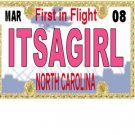 30 NORTH CAROLINA License Plate GIRL Baby Shower Candy Bar Wrappers Nugget Labels Party Favors