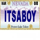 30 NEVADA License Plate BOY Baby Shower Candy Bar Wrappers Hershey's Nugget Labels Party Favors