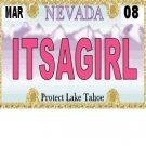 30 NEVADA License Plate GIRL Baby Shower Candy Bar Wrappers Hershey's Nugget Labels Party Favors