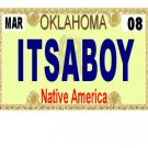 30 OKLAHOMA  License Plate BOY Baby Shower Candy Bar Wrappers Hershey's Nugget Labels Party Favors