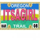 30 OREGON License Plate GIRL Baby Shower Candy Bar Wrappers Hershey's Nugget Labels Party Favors