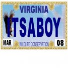 30 VIRGINIA License Plate BOY Baby Shower Candy Bar Wrappers Hershey's Nugget Labels Party Favors