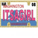 30 WASHINGTON License Plate GIRL Baby Shower Candy Bar Wrappers Hershey's Nugget Labels Party Favors