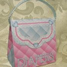 Diaper Bag design PURSE SHAPE Personalized Favor BABY Shower, Gift Goodie Boxes SET OF 6