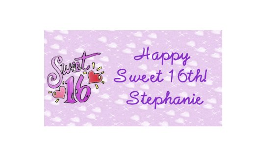 16 Sweet 16 Lip Balm Chap Stick Wrapper Birthday party favor label Personalized