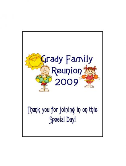 16 Family Reunion Lip Balm Chap Stick Wrapper party favor label Personalized