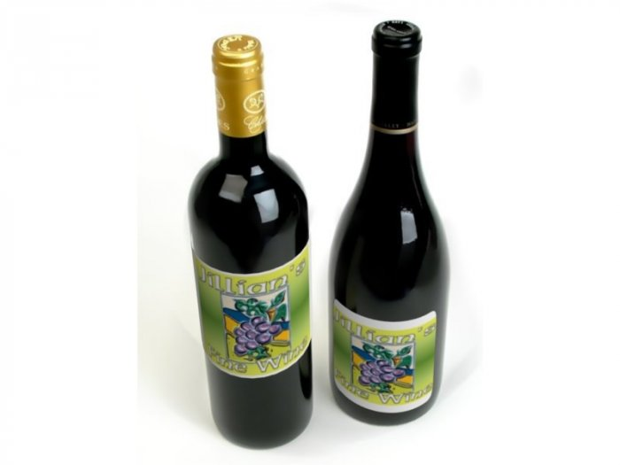 HOMEMADE Grape Wine Custom Bottle Labels 60 High Gloss Labels