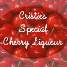 HOMEMADE Cherry Liqueur Custom Bottle Labels 60 High Gloss Labels