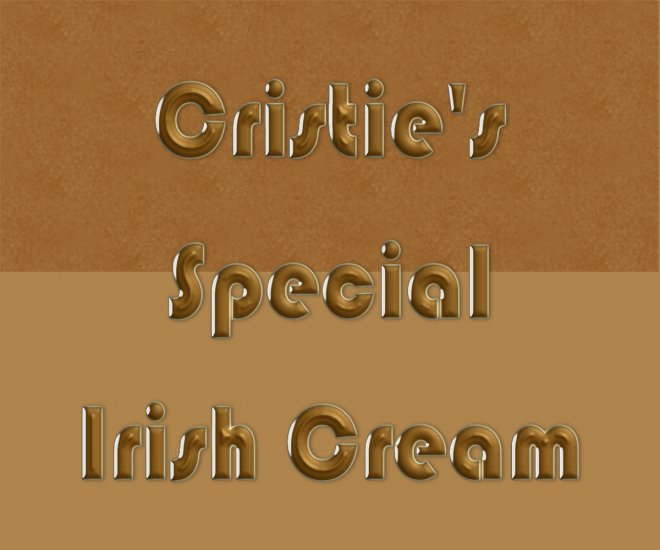 HOMEMADE Irish Cream Liqueur Custom Bottle Labels 60 High Gloss Labels