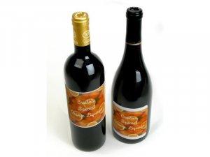 18 HOMEMADE Orange Liqueur Custom Bottle Labels High Gloss Labels