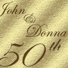 50th Golden Anniversar Wine Bottle labels Party Favors 60 High Gloss Labels