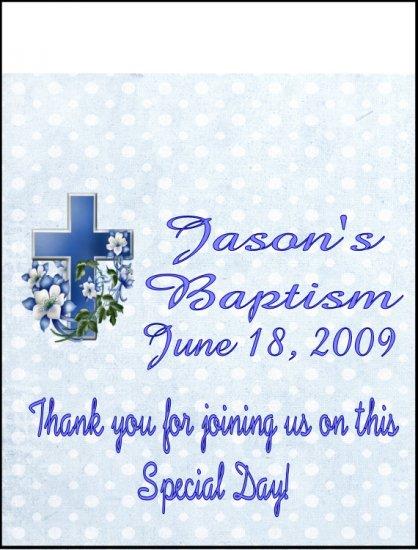 16 Baptism Lip Balm Chapstick Lip Balm Chap Stick Wrapper party favor label Personalized