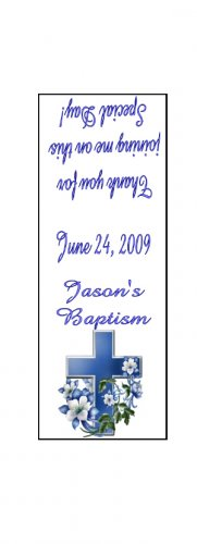 30 Personalized BAPTISM TIC TAC MINTS Wrappers Labels Party Favors