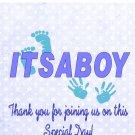 16 ITS A BOY Baby Lip Balm Chapstick Lip Balm Chap Stick Wrapper party favor label