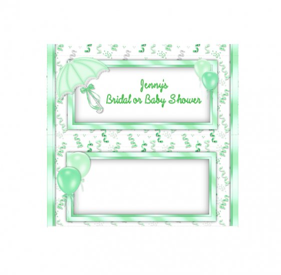 Candy Bar Box Favors SHOWER Hershey bars PERSONALIZED Set of 6 Party Favors