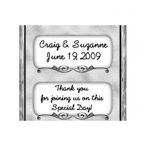 Candy Bar Box Favors SILVER FRAME Hershey bars PERSONALIZED Set of 6 Party Favors
