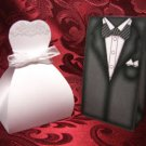 WEDDING Favor Boxes Wedding Dress and Tuxedo Party Favors Set of 6 each