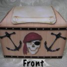 PIRATE TREASURE CHEST Birthday Favor Boxes  Party Favors Set of 6
