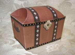 TREASURE CHEST Birthday Favor Boxes  Party Favors Set of 6