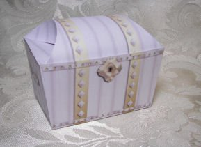 WHITE TREASURE CHEST Birthday Favor Boxes  Party Favors Set of 6