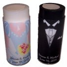 Wedding SALT AND PEPPER SHAKERS Bride and Groom PERSONALIZED wedding reception or brial shower