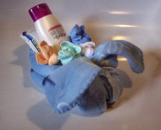 Momma Blanket Bunny and Baby washcloth Bunnies Baby Shower Gift Centerpiece Shower decoration