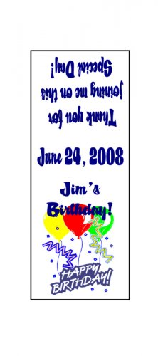 30 Personalized HAPPY BIRTHDAY Balloons TIC TAC MINTS Wrappers Labels Party Favors