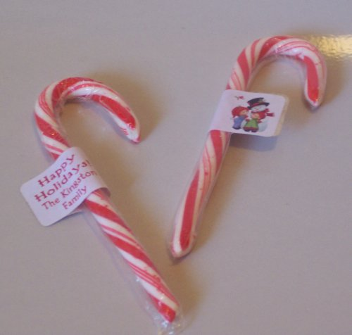 30 CANDY CANE Christmas Holiday Tags Labels,  FAVORS #1