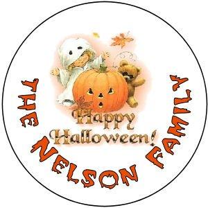 108 Halloween Hershey's Kiss Labels Jack-o-lantern Pumpkin Party Favors #2
