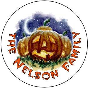 108 Halloween Pumpkin Hershey's Kiss Labels Party Favors #6