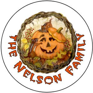 108 Halloween Pumpkin Hershey's Kiss Labels Party Favors #7