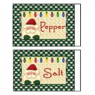 6 sets Christmas Holiday Salt & Pepper Shaker Wrappers
