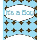 15 Hershey Miniatures Candy Bar Wrapper Labels It's A Boy Baby ShowerParty Favors