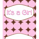 15 Hershey Miniatures Candy Bar Wrapper Labels It's A Girl Baby ShowerParty Favors
