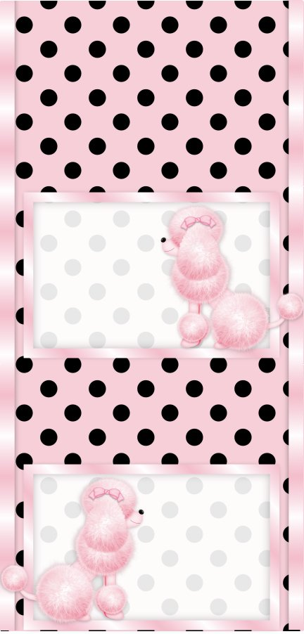 15 Hershey Miniatures Candy Bar Wrapper Labels Pink French Poodle Birthday Party Favors