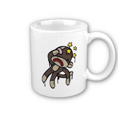 Sock Monkey Coffee Mug Cup