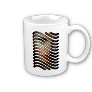 Abstract Face Coffee Mug Cup