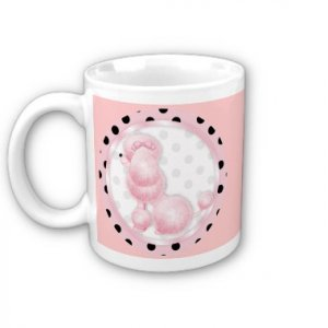 PINK POODLE Retro Coffee Mug Cup