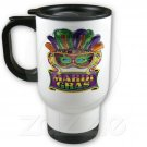 Mardi Gras Travel Coffee Mug Cup Stainless Aluminum