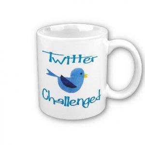 Twitter Challenged Design Coffee Mug Cup