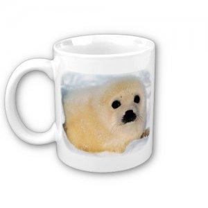 Baby Seal Coffee Mug Cup Animal